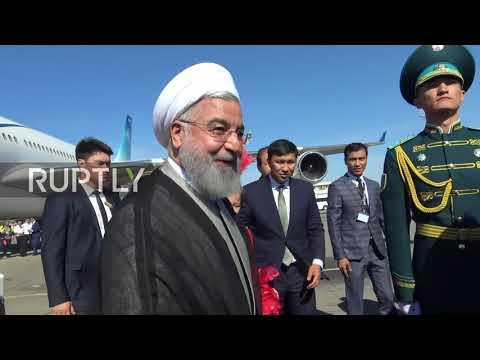 Kazakhstan: Rouhani arrives to Aktau for Caspian Summit