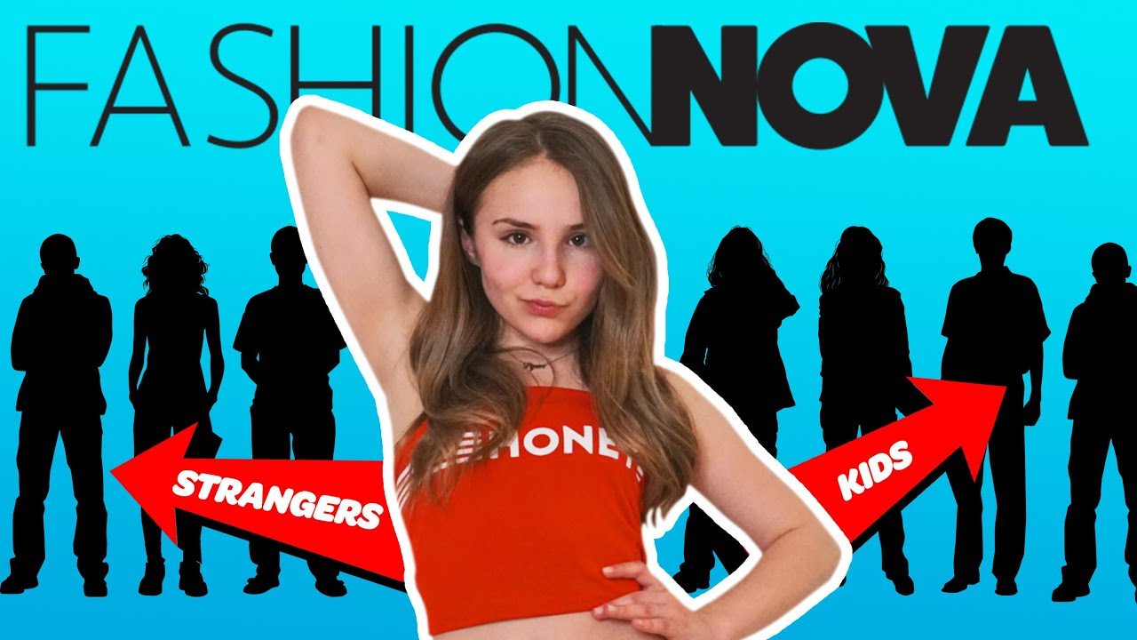 KIDS REACT to my FASHION NOVA Outfits **TRY ON HAUL** ??  Piper Rockelle 7