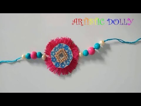 How to make Rakhi with Silk Threads | Rakhi Competition Ideas