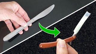 WOW So SHARP - Miniature Shaving RAZOR from Butter Knife