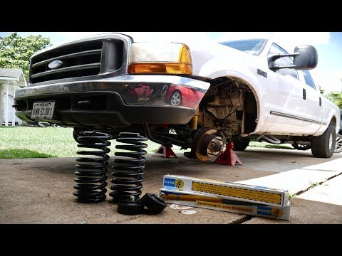 Ford F-250 Super Duty Leveling Kit w/Shocks & Coil Install