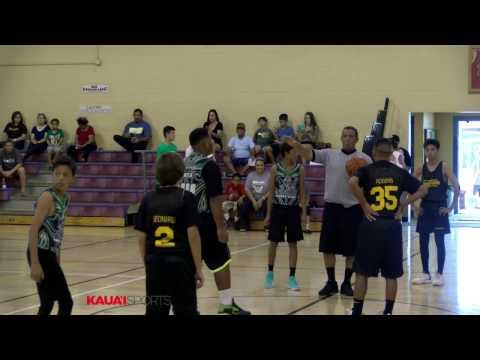 Kauai County Winter League youth basketball game