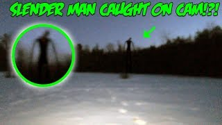 I Caught Slender Man On Camera In The Haunted Forest!