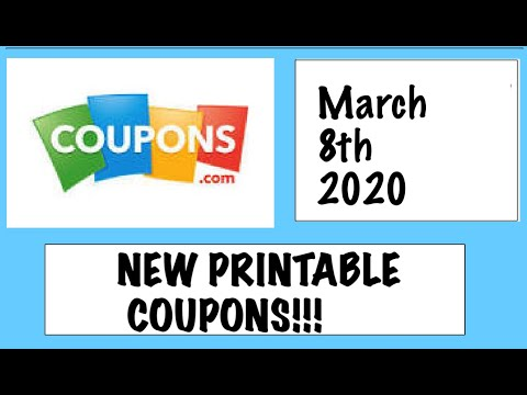*HOT* New Printable Coupons!– 3/8/20