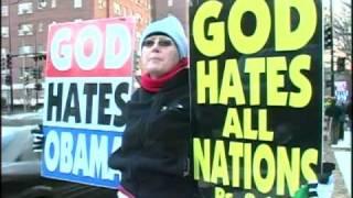 Anti-Gay Protesters Blast Obama