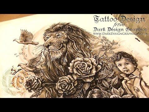 A Beautiful Family Tattoo Design – Dark Design Graphics