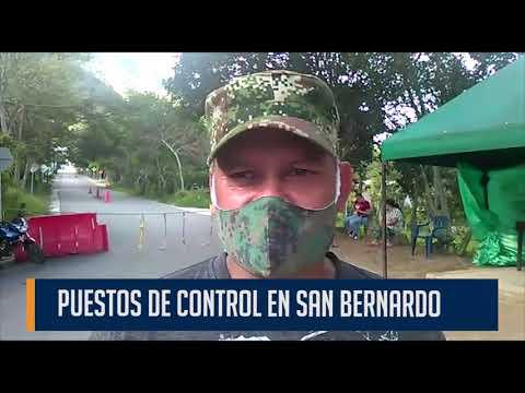 En  San Bernardo, la comunidad se protege del virus y de la delincuencia