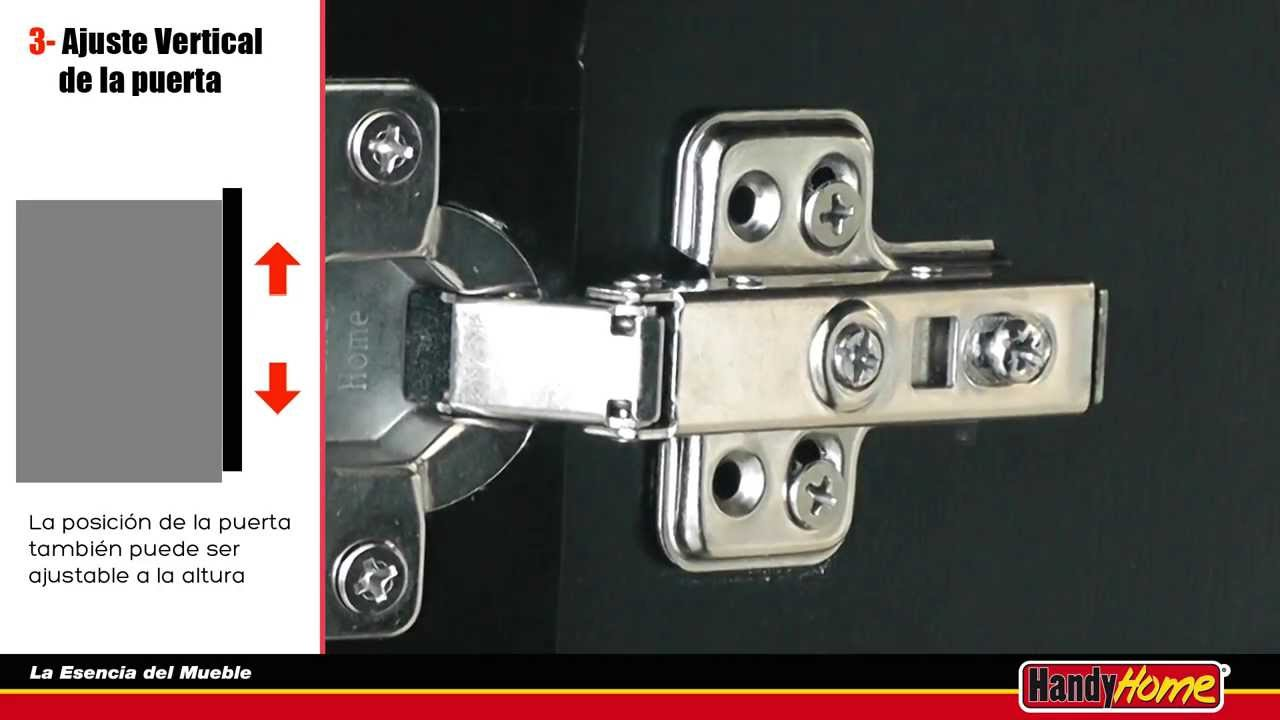 C mo ajustar una puerta de mueble bisagra bidimensional - Como hacer puertas de armario ...