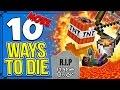 10 MORE Ways To Die In Minecraft!