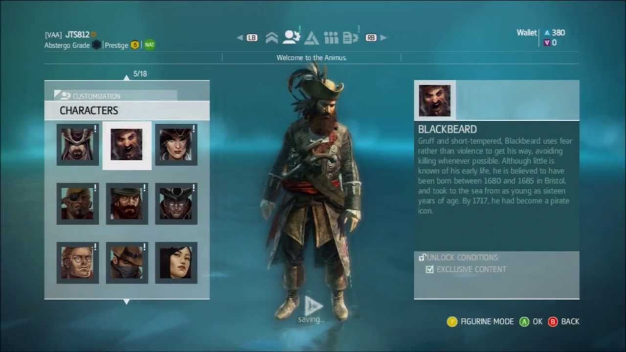 Assassin S Creed 4 Multiplayer Characters How To Unlock Video