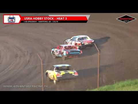 Hobby Stock Heats - I-90 Speedway - 7/6/19