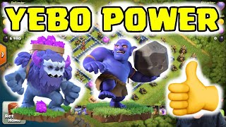 TH13 YEBO Power Combo - Use This! - Legend League Raids - Clash of Clans