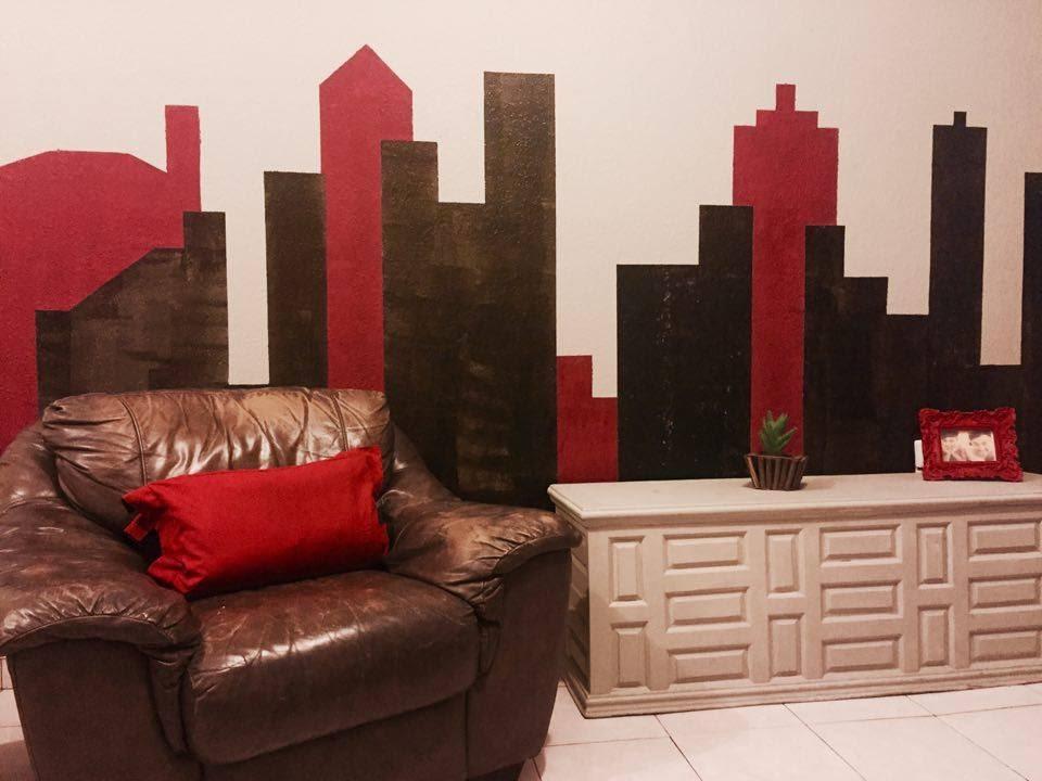 Como pintar una ciudad en tu pared how to paint a city on your wall youtube - Murales pintados en la pared ...