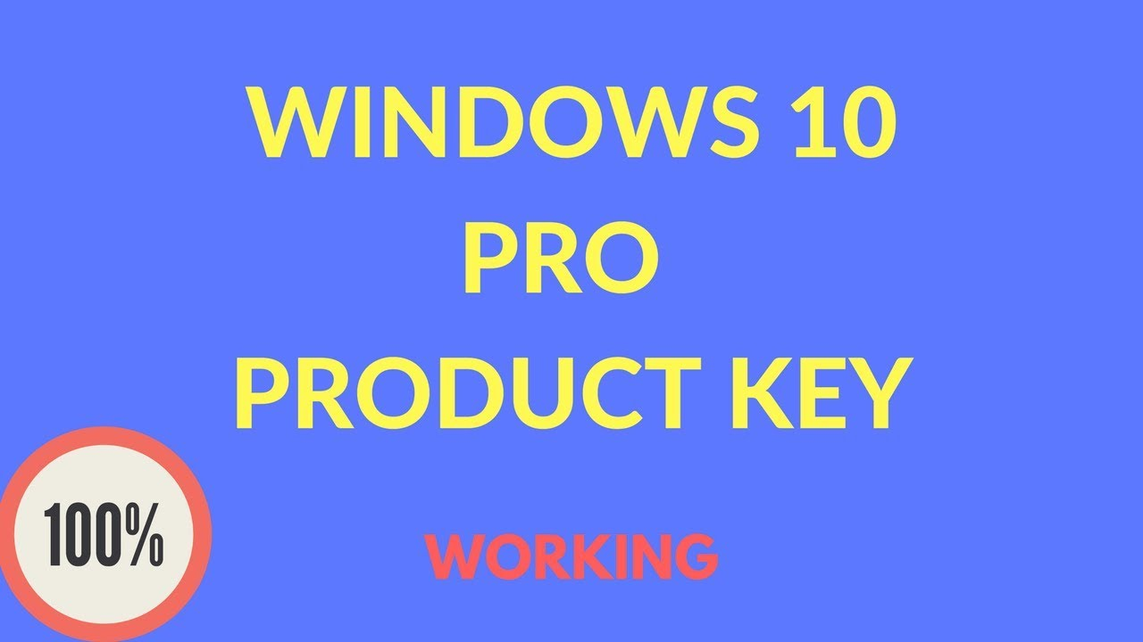 Windows 10 pro product key youtube for Window 10 pro product key