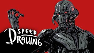 Speed Drawing: Avengers: Age of Ultron