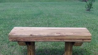 This video is not available. How to build a wooden bench for 12.75