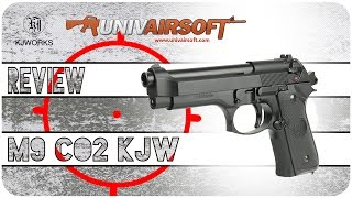 airsoft review m9 kjw gbb co2 with shooting test univairsoft com