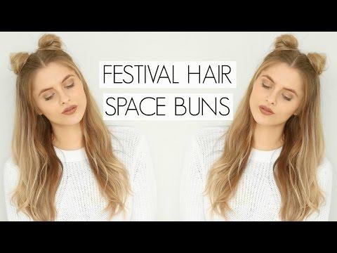 Festival Hair - Space Buns   Fashion Influx