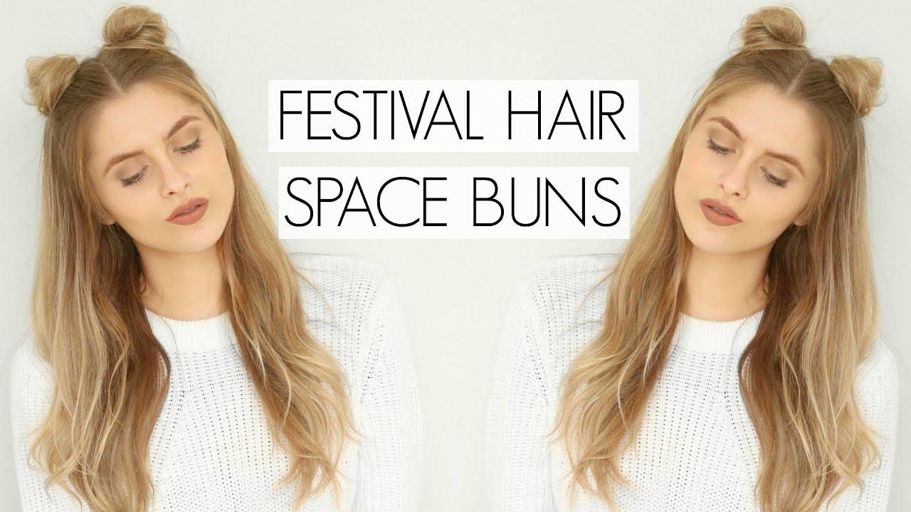 festival hair - space buns fashion