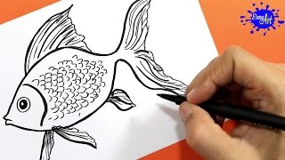 Como dibujar un pez | how to draw fish | Easy art
