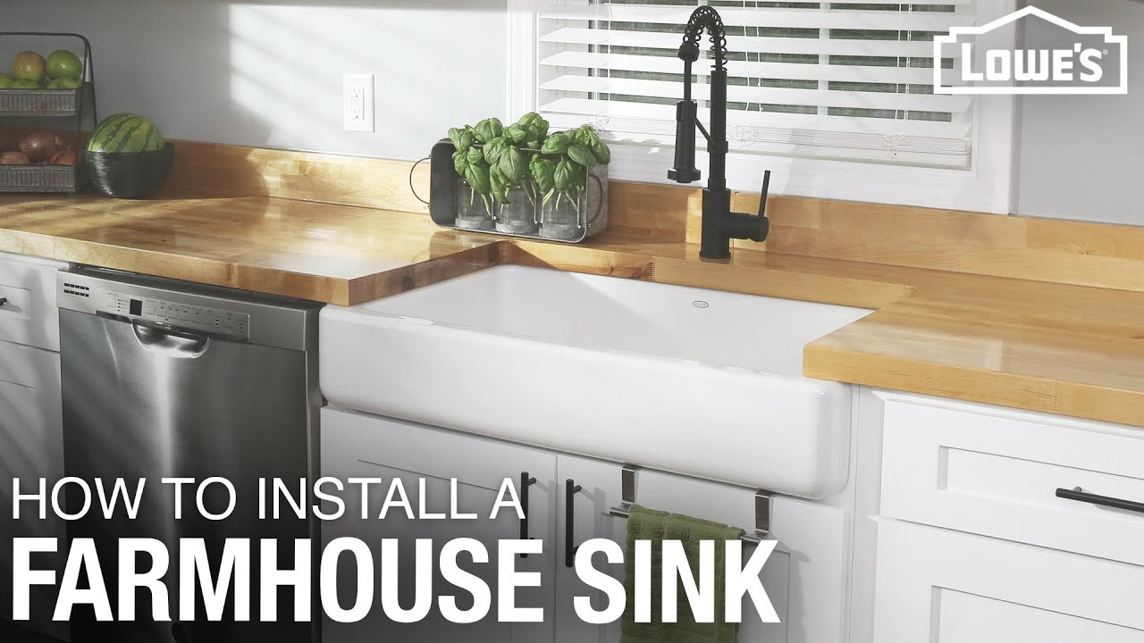 How To Install a Farmhouse Sink | DIY Kitchen Remodel