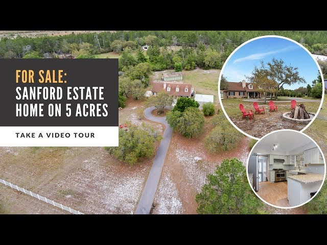 SOLD in Sanford, FL - Seminole Estates Home on 5 Acre Lot