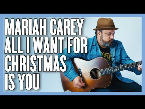 Mariah Carey All I Want for Christmas is You Guitar Lesson + Tutorial thumbnail
