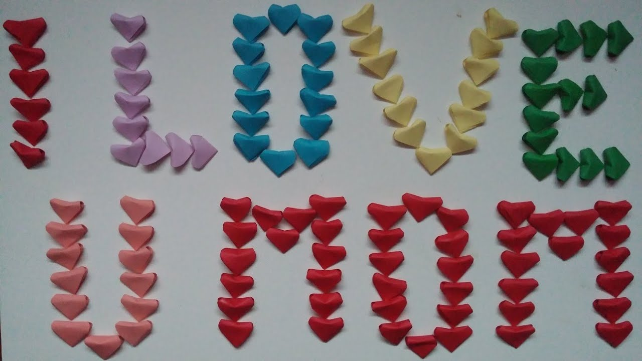I Love You Crafts I Love You Mom Project Mothers Day Project Kids Craft Youtube