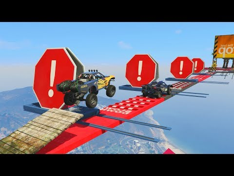 99% IMPOSIBLE! SALTO FAIL!!! - CARRERA GTA V ONLINE - GTA 5 ONLINE
