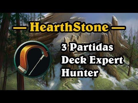 HearthStone Brasil - 3 Partidas Com Deck Expert De Caçador | Hunter