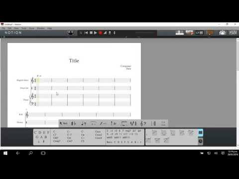 Notion 5: Score and Note Input