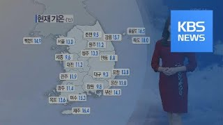 [날씨] 황사에 초미세먼지까지, 전국 대부분 미세먼지 '나쁨' / KBS뉴스(News)