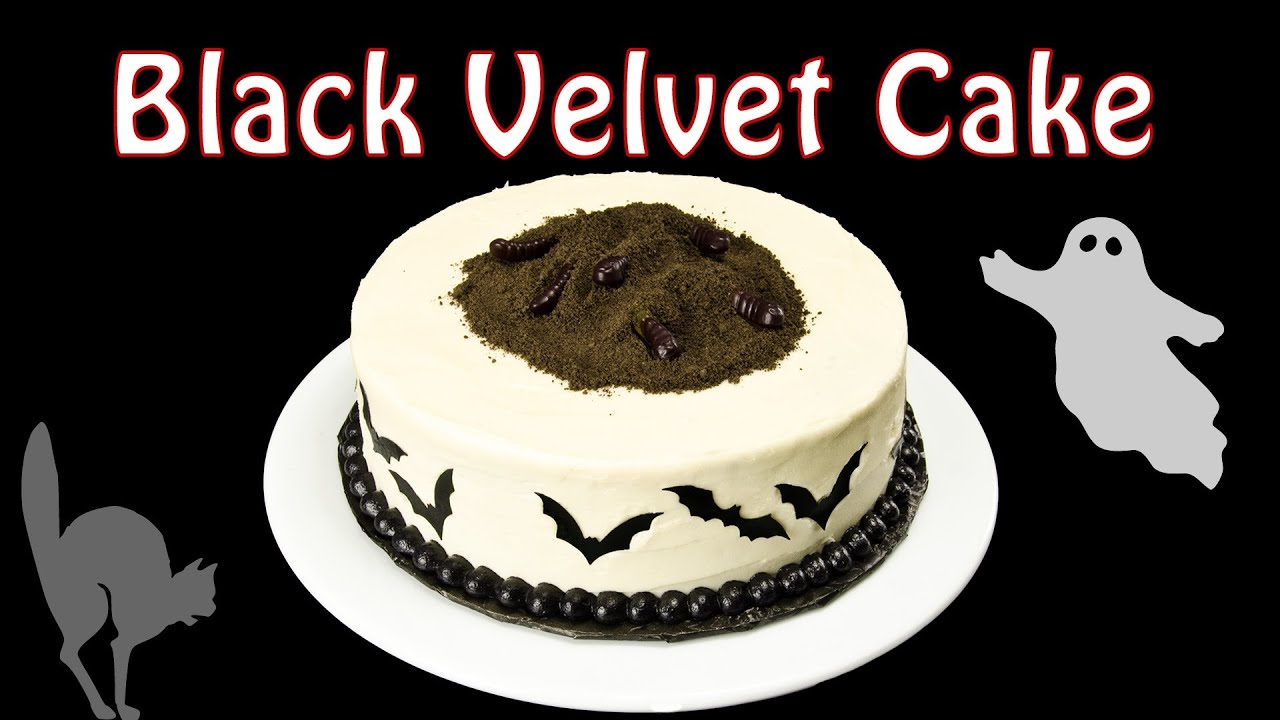 black velvet cake part 2 decorating a halloween cake by cookies cupcakes and cardio youtube