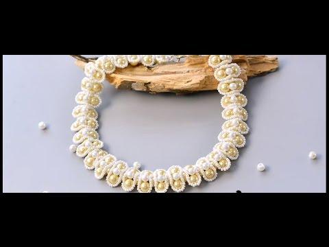 comment faire un collier de perles 3 rangs