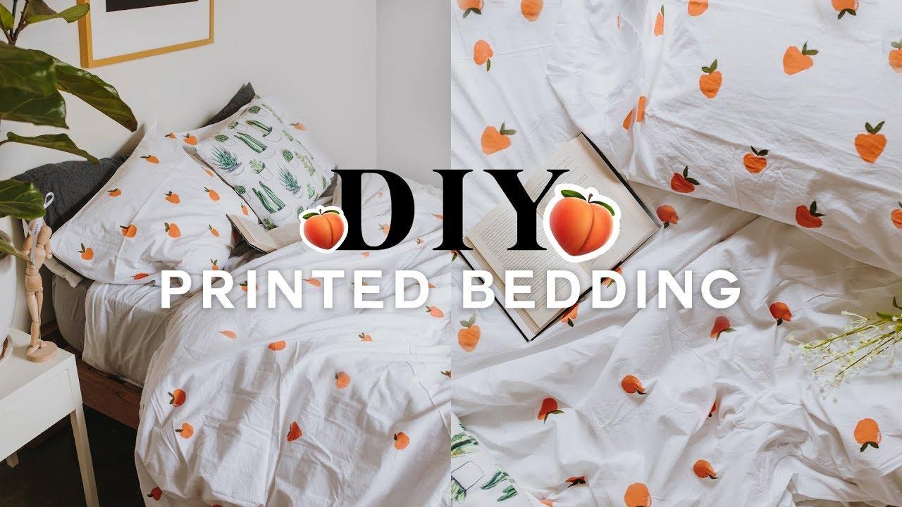 DIY Pattern Duvet Cover 🍑 Super Easy