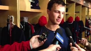 Indians rookie Zack Walters talks about game-winning home run vs. Chicago