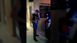 Rob LeRoy singing IN COLOR by Jamey Johnson  at Karaoke night