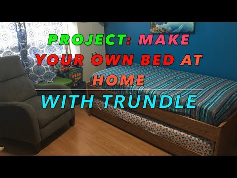 DIY Bed frame with trundle