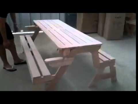 Παγκάκι που γίνεται τραπέζι