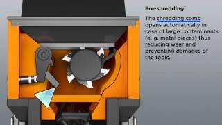 Combined Shredder Doppstadt DZ 750 Animasyon İngilizce