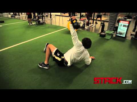 Velocity NFL Combine Training: Dynamic Core Superset