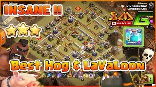Clash of Clans⭐INSANE ! 3-STAR MAX TH11⭐BEST HOG & LAVALOON+CLONE FIGHT IN CLAN WAR⭐