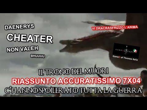 RECENSIONE GAME OF THRONES 7X04 RIASSUNTO ACCURATISSIMO 'C'HANNO SPOILERATO TUTTALAGUERRA'