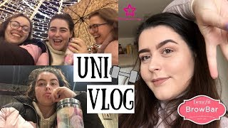 UNI VLOG | Leg Workout, Skincare Hauls + New Brows!