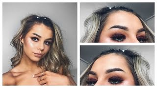 smokey eye with pop of colour   makeup tutorial