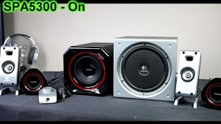 Logitech Z3e vs Philips SPA5300 2.1 system bass-sound test