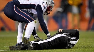 Referee Knocked UNCONSCIOUS by Patriots Linebacker, Gets Carted Off the Field