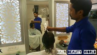Indian Girl Headshave in Salon