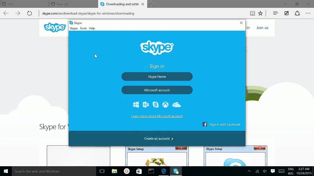 skype for windows 10 download
