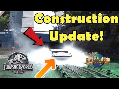 Jurassic World Queue Construction and Universal Studios Hollywood Construction Update!